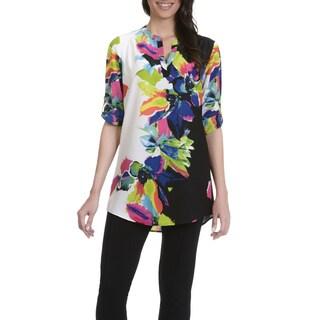 Joan Vass Women's Floral Print Tunic