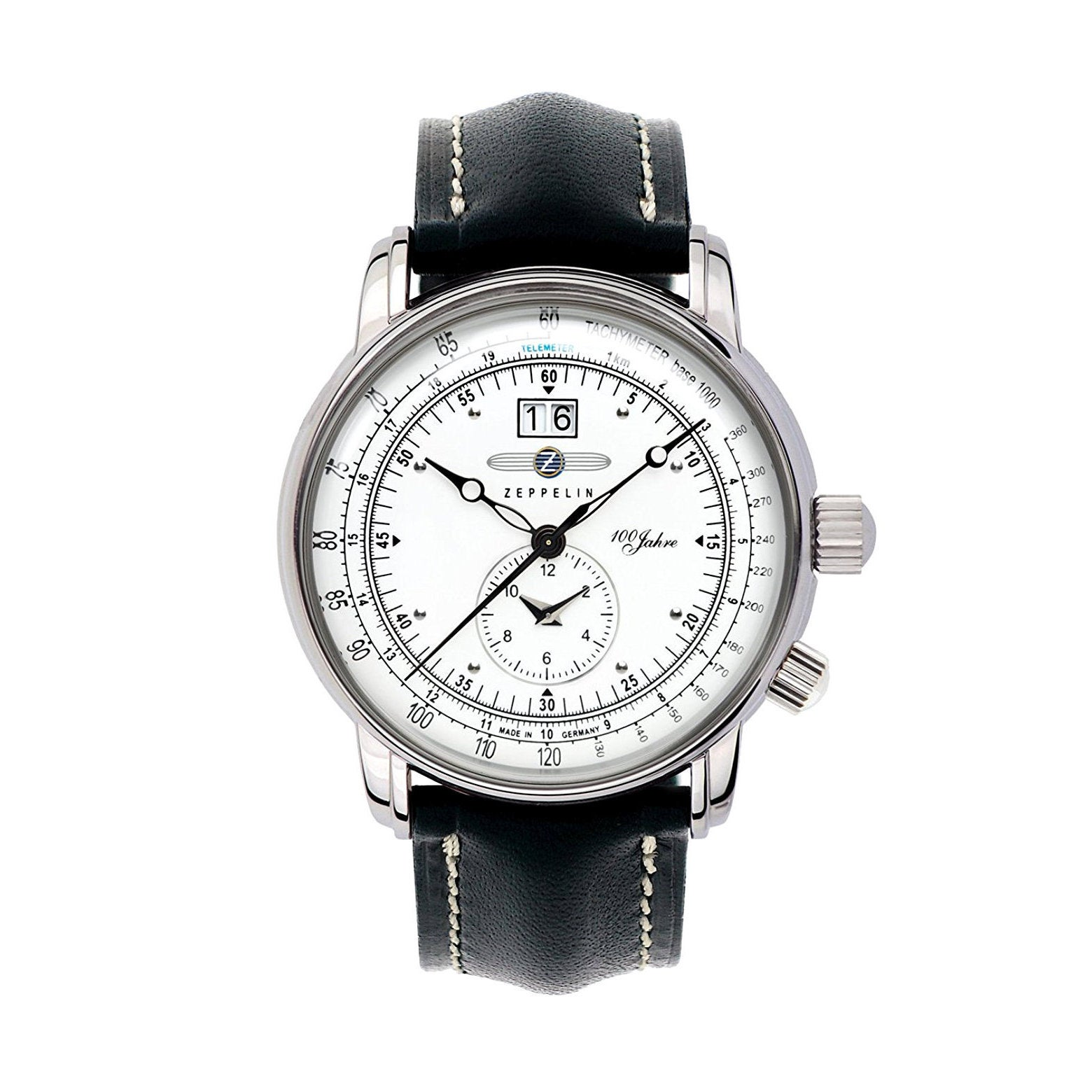 Graf Zeppelin German Made, Dual Time Big Date 100 Years o...