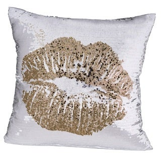 Oliver Gal Home 'Simple Kiss White' Throw Pillow
