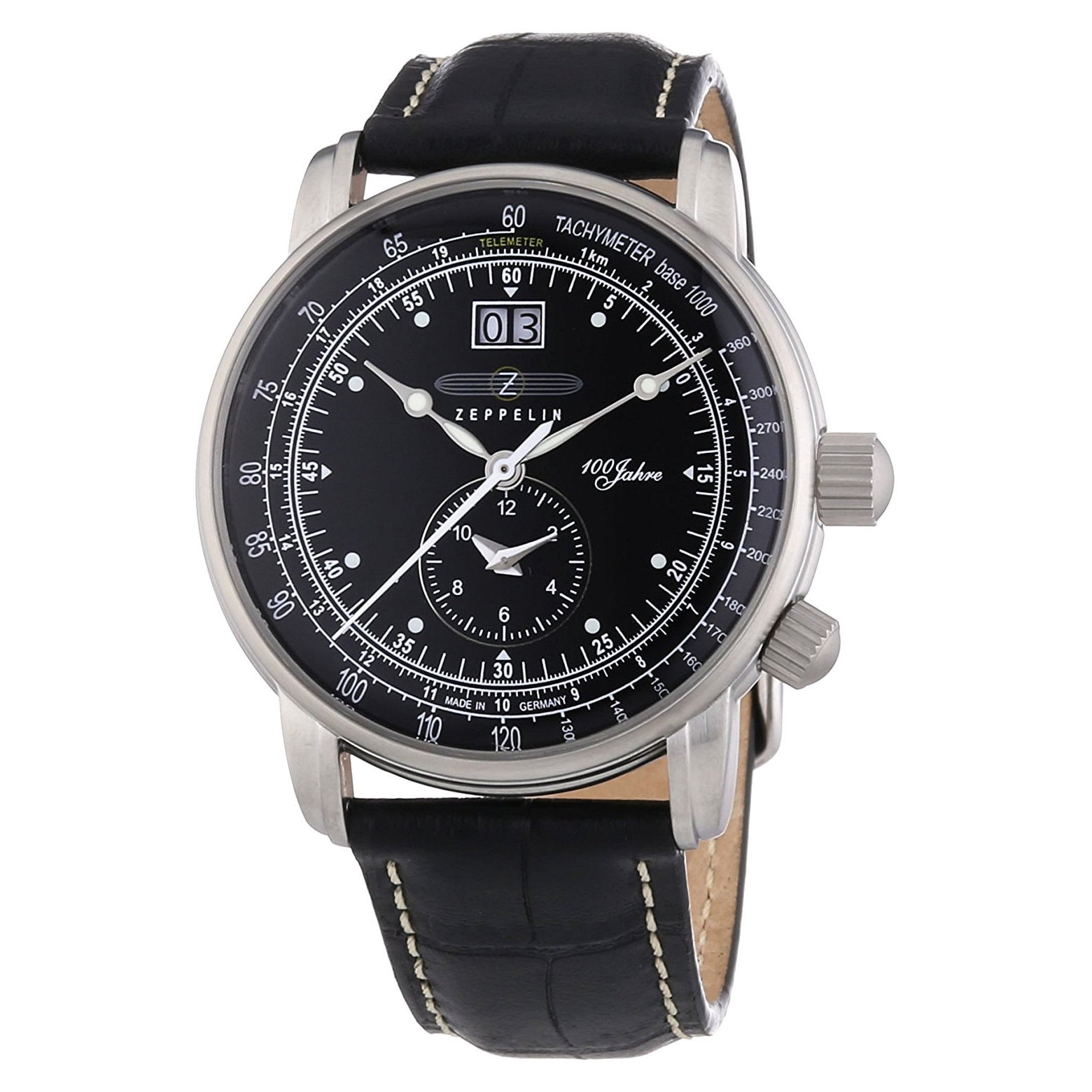 Graf Zeppelin German Made, Big Date, Dual Time Watch with...