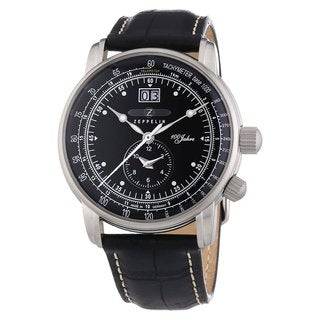 Graf Zeppelin German Made, Big Date, Dual Time Watch with Two Crowns #7640-2