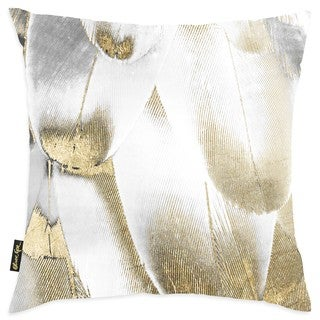 Oliver Gal Home 'Royal Feathers' Throw Pillow