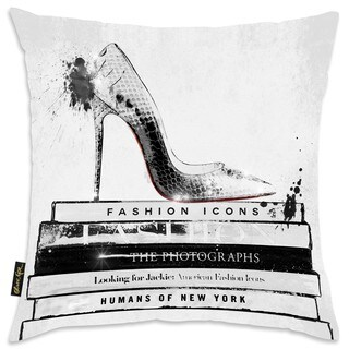 Oliver Gal Home 'Fashion Icons' Throw Pillow