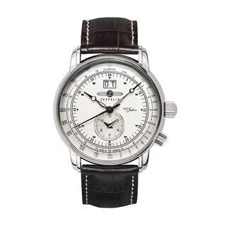 Graf Zeppelin German Made Dual Time Big Date 100 Years of Zeppelin Watch #7640-1