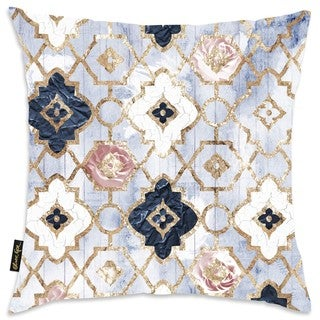Oliver Gal Home 'Rose Quartz Moroccan' Throw Pillow