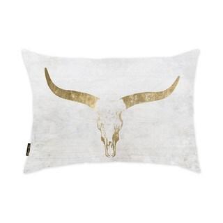 Oliver Gal Home 'Evening Desert Skull Sand' Throw Pillow