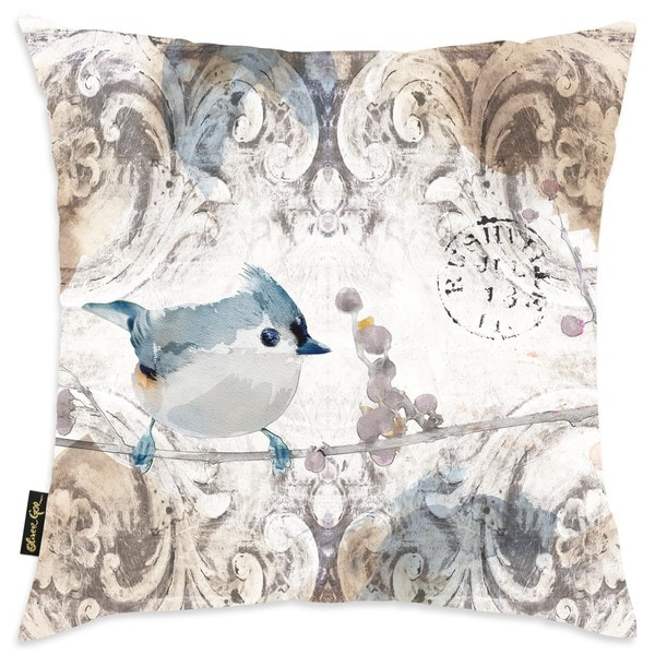 Oliver Gal Home 'Bird Singing in the Morning' Throw Pillow