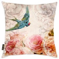 Oliver Gal Home 'Bird Singing in the Evening' Throw Pillow