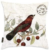 Oliver Gal Home 'Bird In The Tree II' Throw Pillow