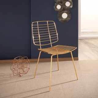 Abbyson Milo Gold Iron Dining Chair