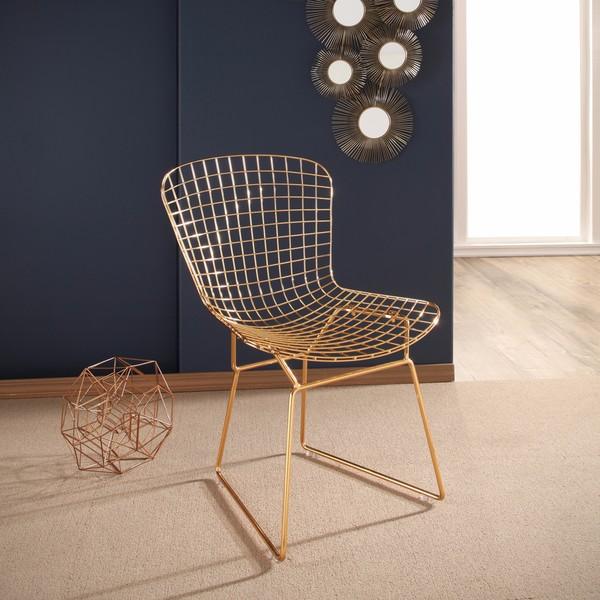 Abbyson Alexa Gold Iron Dining Chair