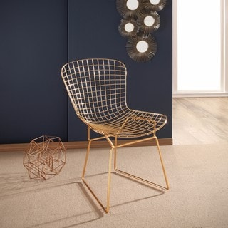 Abbyson Alexa Gold Iron Dining Chair