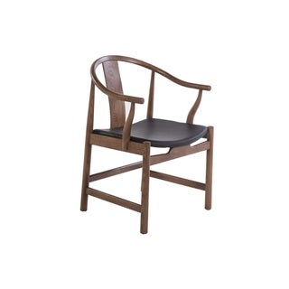 Hans Andersen Home Walnut Wood and Leather Ming Chair
