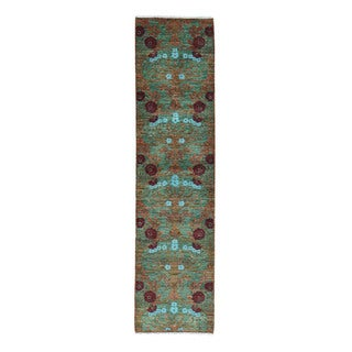 1800getarug Modern Arts and Crafts Wool Hand-spun Hand-knotted Runner Rug (2'6 x 6'1)