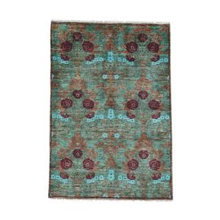 1800getarug Arts and Crafts Modern Wool Hand-spun Hand-knotted Carpet (4'1 x 6'3)