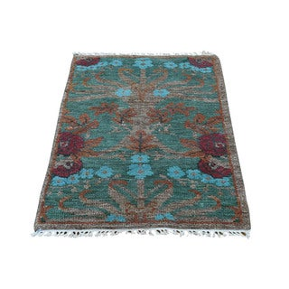 1800getarug Modern Arts and Crafts Oriental Wool Hand-spun Hand-knotted Rug (2' x 3')