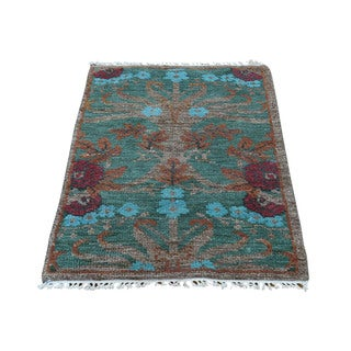 1800getarug Hand-spun Wool Hand-knotted Modern Arts and Crafts Oriental Rug (2' x 3')