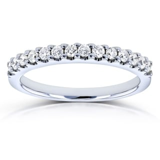 Annello by Kobelli 14k White Gold 1/4ct TDW Diamond Prong-set Womens Wedding Band (G-H, I1-I2)
