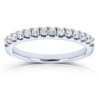 Annello by Kobelli 14k White Gold 1/4ct TDW Diamond Prong-set Womens Wedding Band (G-H, I1-I2)