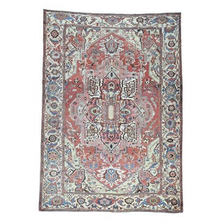 1800getarug Hand-knotted Antique Persian Serapi Good Cond Oriental Rug (10'1x14'1)
