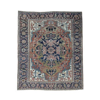 1800getarug Antique Persian Heriz Even Wear Oriental Hand-knotted Rug (9'9 x 11'10)