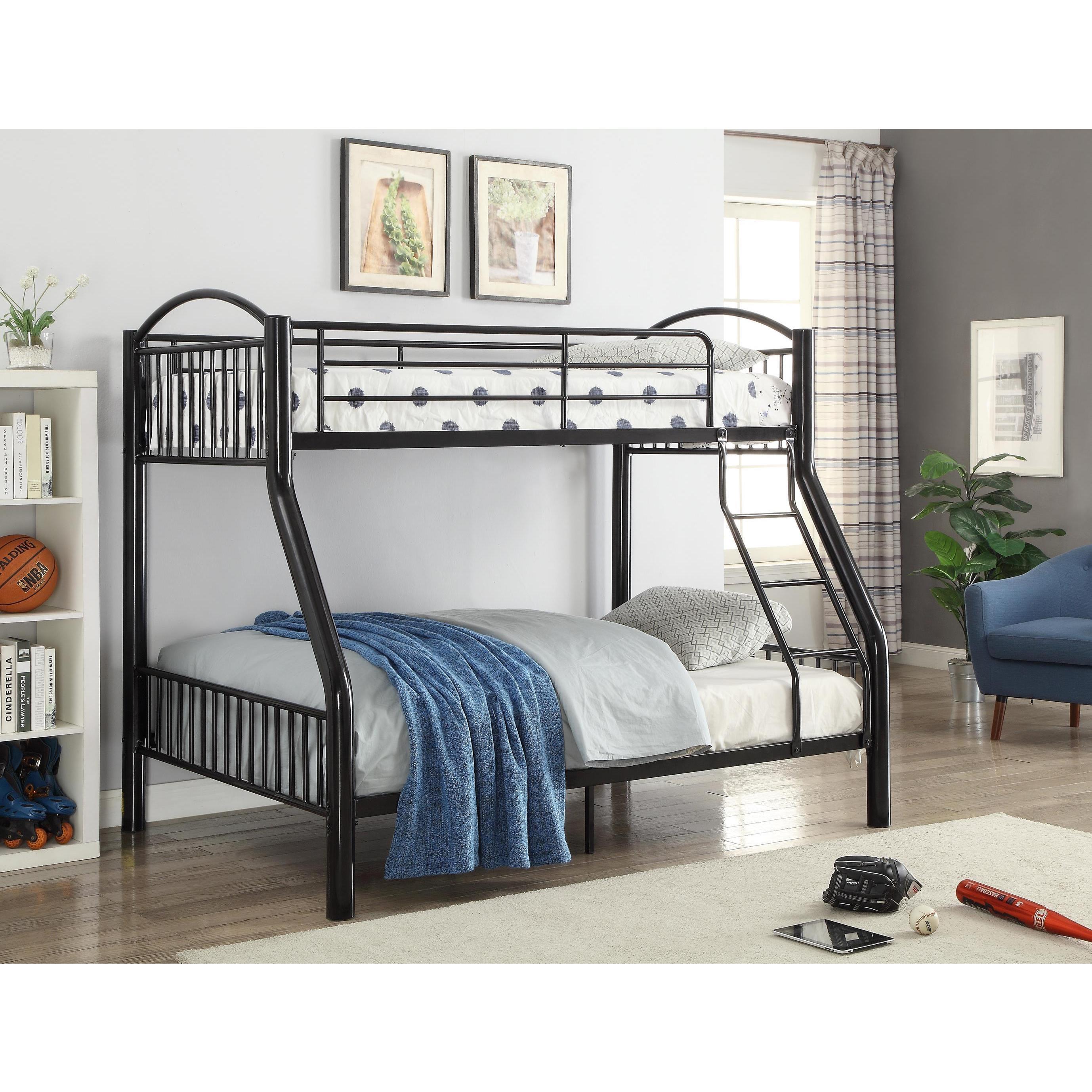 ACME Furniture Cayelynn Bunk Bed (Black - Black Finish), ...