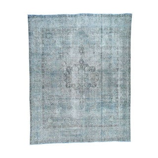 1800getarug Pure Wool Hand-knotted Kashan Overdyed Persian Oriental Rug (9'4 x 12')