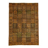 Shahbanu Rugs Pure Wool Hand-knotted Overdyed Bakhtiari Garden Design Rug (6'10 x 9'8)