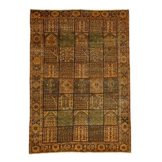 1800getarug Pure Wool Hand-knotted Overdyed Bakhtiari Garden Design Rug (6'10 x 9'8)