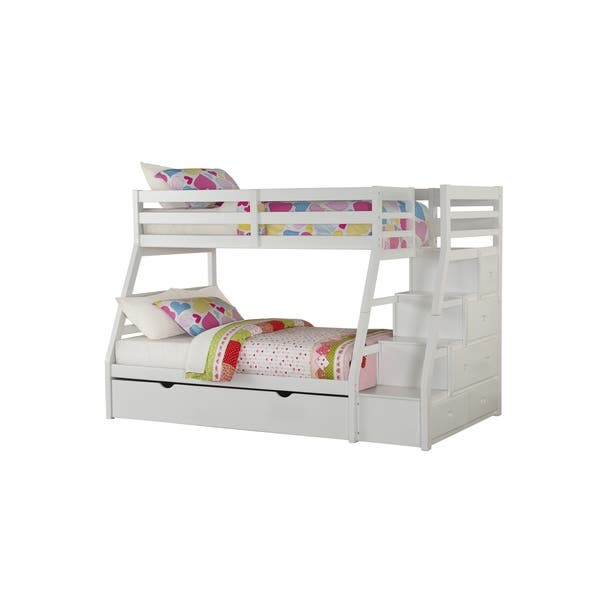 Shop Acme Furniture Jason White Twin Over Full Bunk Bed With