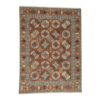 1800getarug Hand-knotted Elephant Feet Design Afghan Ersari Oriental Rug (9'3x12'3)