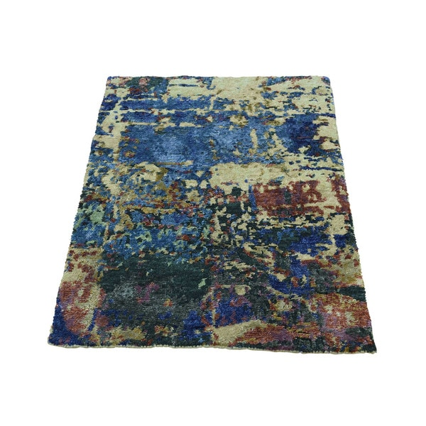 Shop Shahbanu Rugs Abstract-design Hand-knotted Wool/Silk