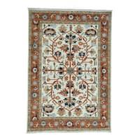 Shahbanu Rugs Antiqued Heriz Hand-knotted Oriental Rug (6'3 x 9'1)