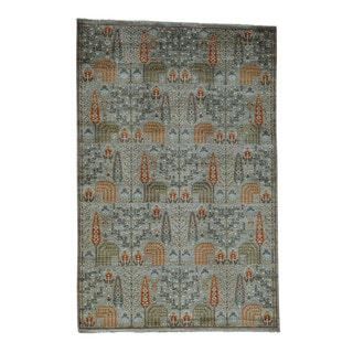 1800getarug Peshawar Willow and Cypress Tree Design Hand-knotted Rug (6'1 x 9'2)
