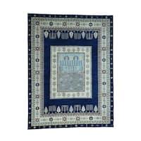 Shahbanu Rugs Handmade Pure Wool Arts and Crafts Scenery Design Peshawar Rug - 9'3 x 12'2