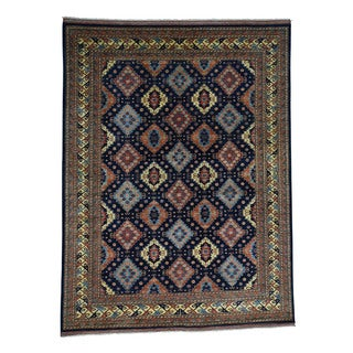 1800getarug Afghan Ersari Multicolored Wool Oriental Hand-knotted Area Rug (9'1 x 11'9)