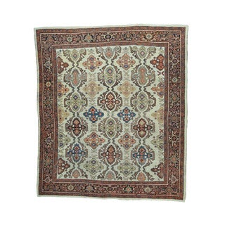 1800getarug Antique Persian Sultanabad Oversize Oriental Rug (12'1 x 13'7)