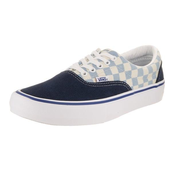 886c2c35013b Shop Vans Men s Era Pro Blue Suede Checkerboard Skate Shoes - Free ...