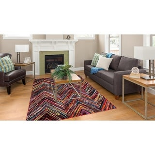 Dimensions Collection Flection Multicolored Area Rug (7'10 x 10'6)