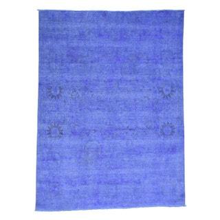 Shahbanu Rugs Peshawar Oriental 100 Percent Wool Overdyed Hand-knotted Rug (7'9 x 10'3)