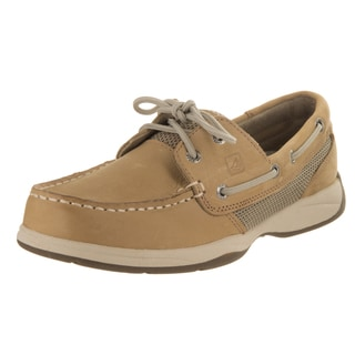 Sperry Top-Sider Women's Intrepid Brown Synthetic Leather 2-eye Boat Shoes