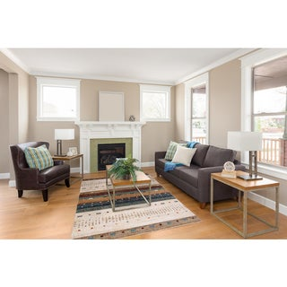 Dimensions Collection Native Beige Area Rug (6'7 x 9'3)
