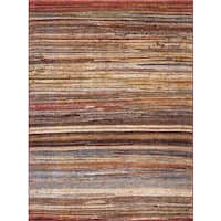 Dimensions Collection Striations Multicolor Rug (6'7 x 9'3)