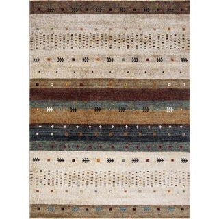 Dimensions Collection Native Beige Rug (5'3 x 7'3)