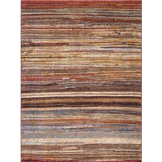 Dimensions Collection Striations Multicolor Rug (5'3 x 7'3)