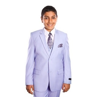 Tazio Boys Suits Solid Shine 5-piece Boys Set for All Ocassions
