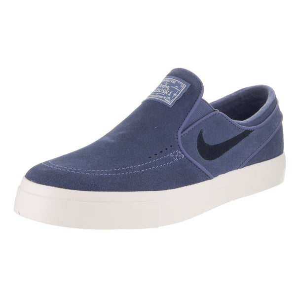 4fef97169284 Nike Men  x27 s Stefan Janoski Blue Suede Slip-on Skate Shoes. Click to Zoom