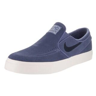 Nike Men's Stefan Janoski Blue Suede Slip-on Skate Shoes