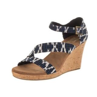Toms Women's Clarissa Blue Tribal Jacquard Casual Shoe