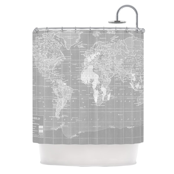 KESS InHouse Catherine Holcombe The Olde World Shower Curtain (69x70)